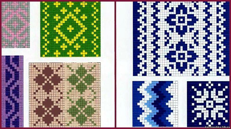 Схемы различных орнаментов .  Схемы букв для вышивки и вязания.  9: brbr: 1406.  Вязание, вязание спицами, вязание...