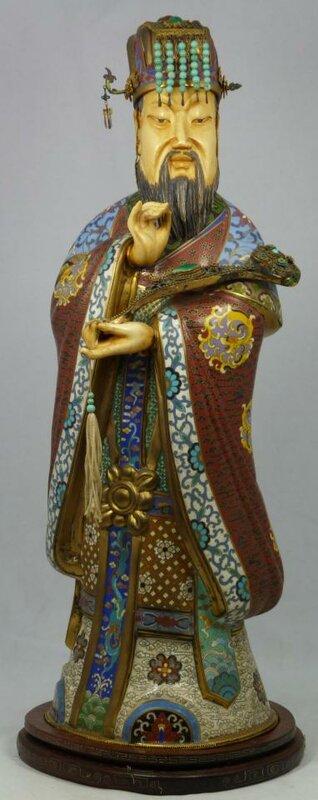 Антиквариат из Китая - 19век: Перегородочная эмаль.
