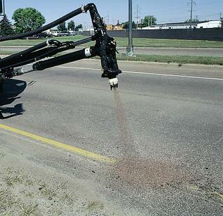 Как починить дорогу не выходя из машины