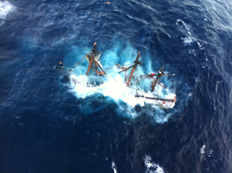 121029-G-ZZ999-002 - Coast Guard rescues crewmembers aboard HMS Bounty