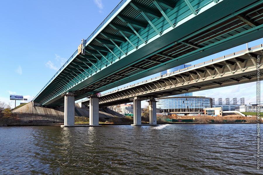 Проходим под мостом МКАД через канал имени Москвы