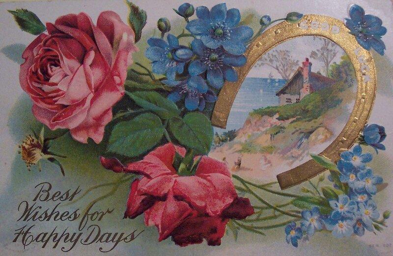 С юбилеем старинная открытка
