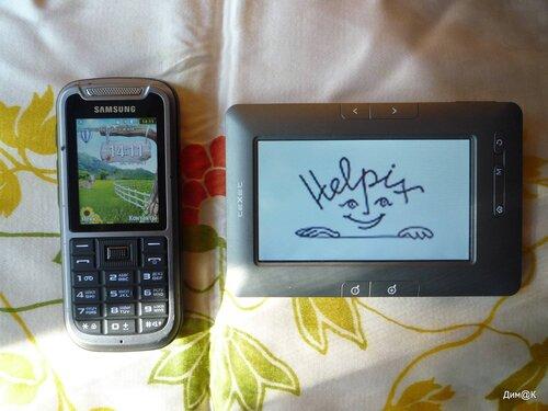 Samsung C3350 и электронная книга Texet ТВ434HD