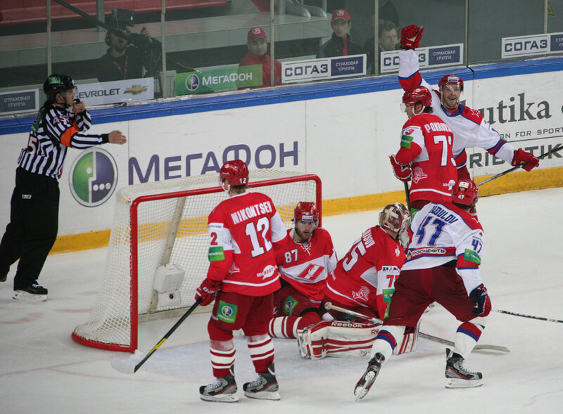 «Спартак» vs ЦСКА 1:2 ОТ чемпионат КХЛ 2012-2013 (Фото)