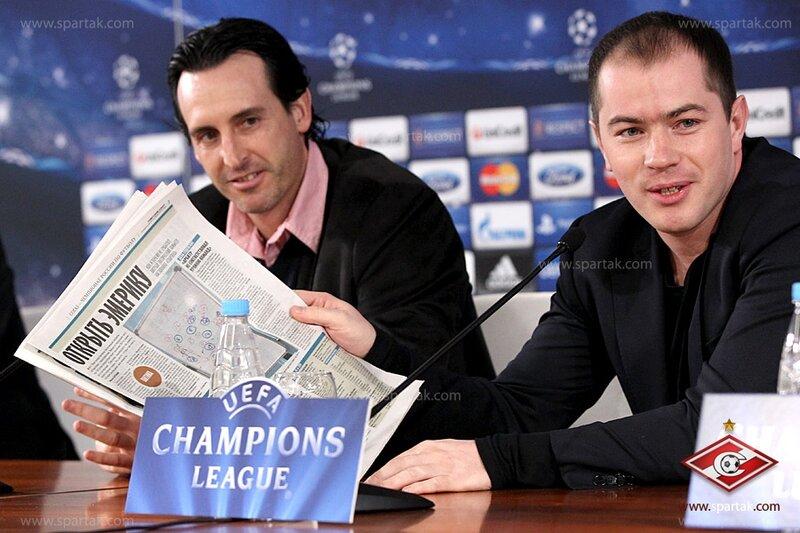 Пресс-конференция и тренировка «Спартака» перед матчем с «Бенфикой» (Фото)