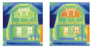 тепловизионный контроль пластиковых окон.