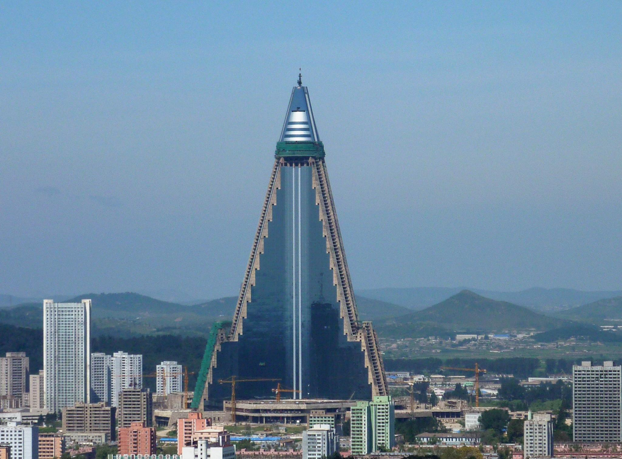 N. Korea's skyscraper hotel being built