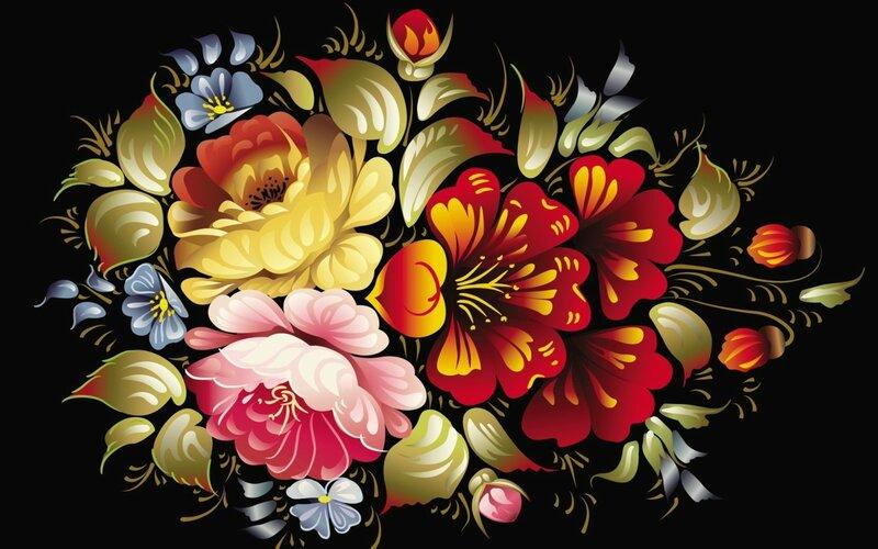 Хохлома картинки цветы 5