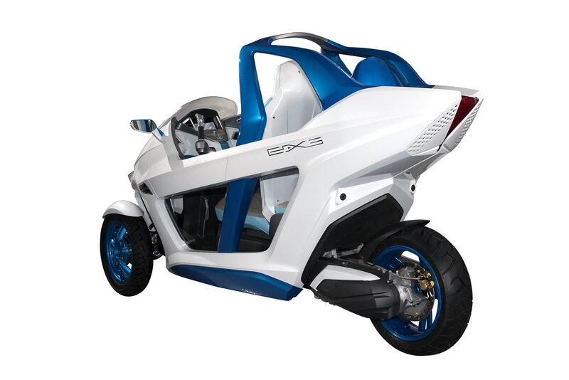 Выставка Intermot 2012: концепт электрического трёхколёсного скутера SYM EX3 - фото 8.