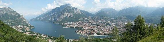Панорама Комо в Италии