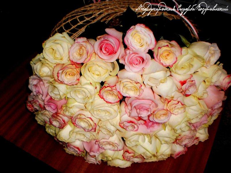 65 роз для мамы