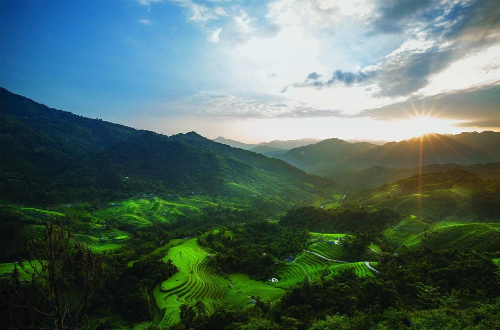 Горы Северного Вьетнама.