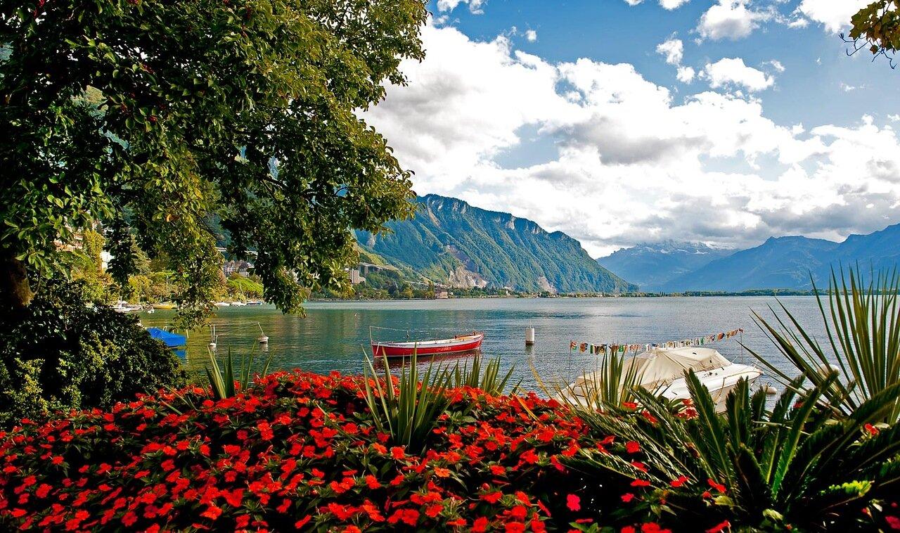 На Женевском озере.