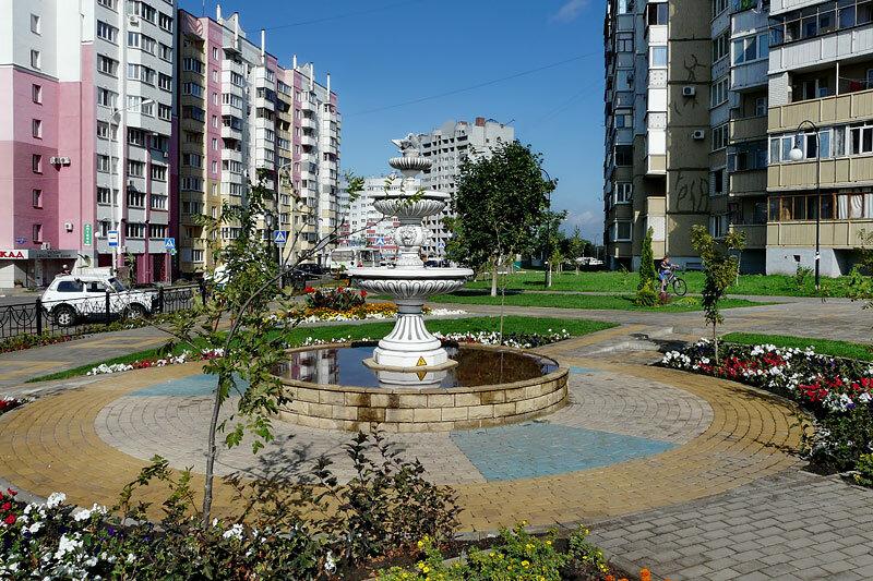 Есенинский фонтан, Белгород, фото SanchesS, 2012