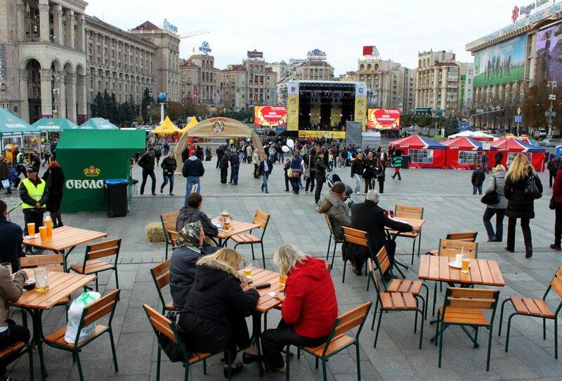 Дегустация пива на Майдане Незалежности