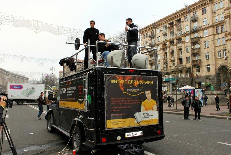 Соревнования по жиму штанги на Крещатике