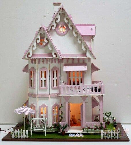 Конструктор кукольный домик сборная игрушка из дерева