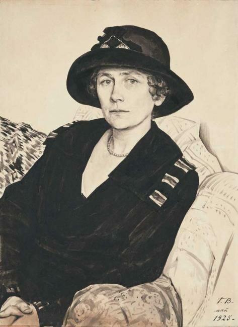 Георгий Семёнович Верейский. Портрет Ю.Е. Кустодиевой, 1925 год