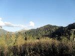В походе, вечер у горы Тхач