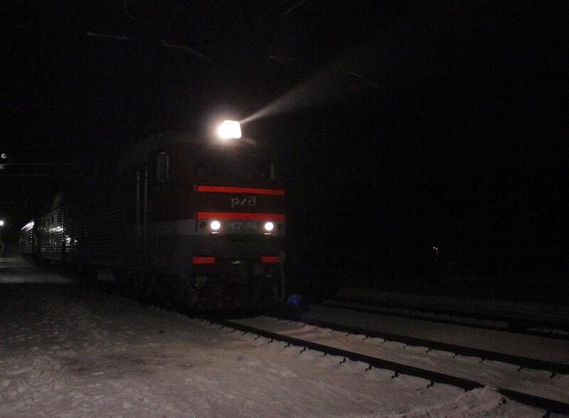 ЧС7-194 на станции Лукино с поездом 139 Питер - Брянск