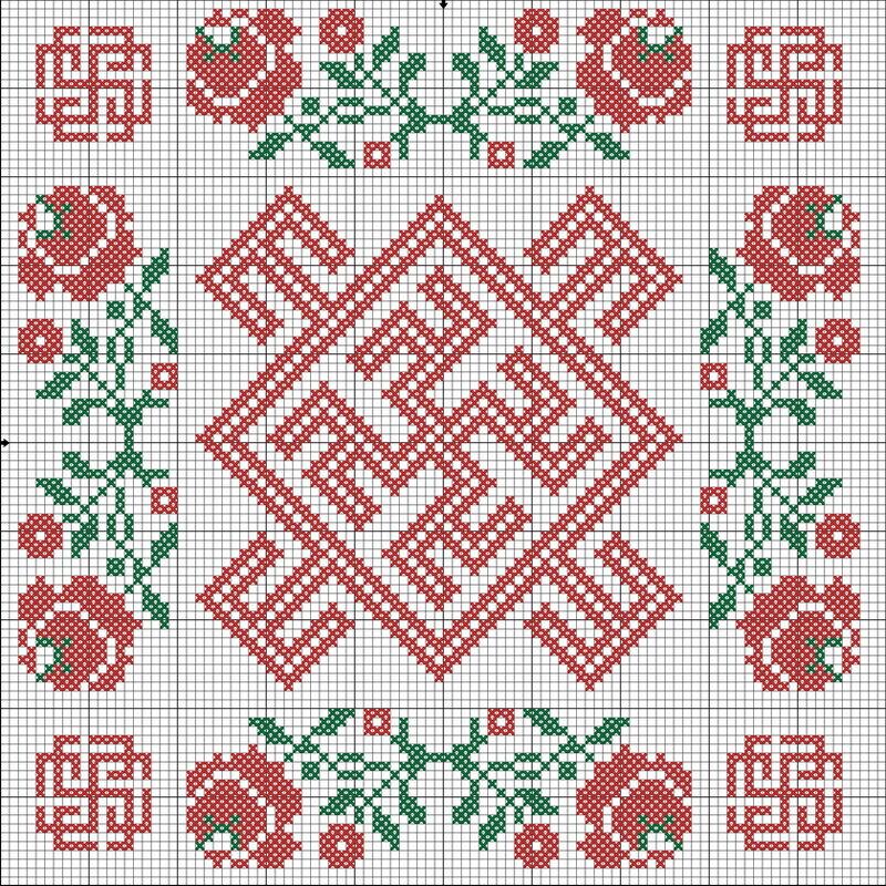 Женский оберег (Одолень трава, Духобор и Целебник).  Все 3 символа способствуют исцелению.
