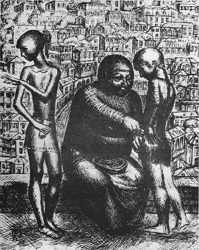 СЕМЕЧКИ, 1976. Бумага, перо