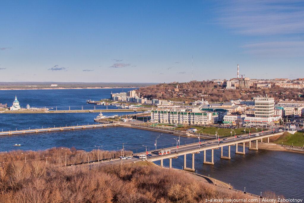 Чебоксарский залив с крыши театра оперы и балета