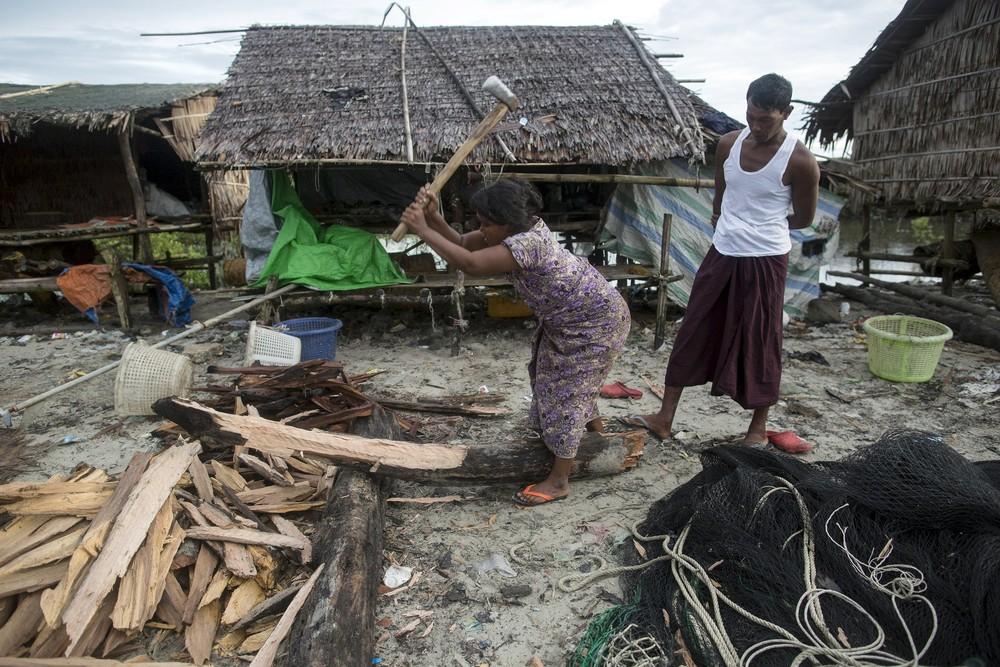 Кадры повседневной жизни в Мьянме