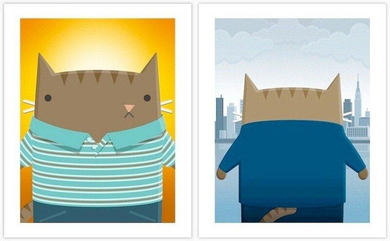 Кошки на постерах известных фильмов