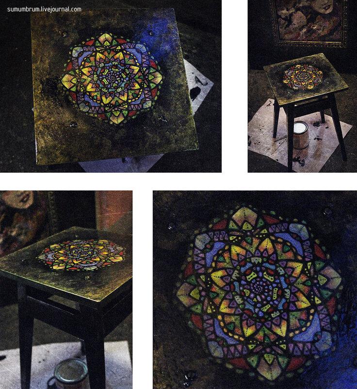 Старый табурет из мастерской художника. Sumumbrum