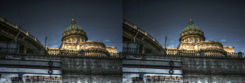 Собор Казанский. 3d crossstereopairs stereo photo stereoview x3d перекрёстная стереопара стереопара стерео фото