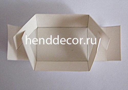 Коробка квадратную как сделать