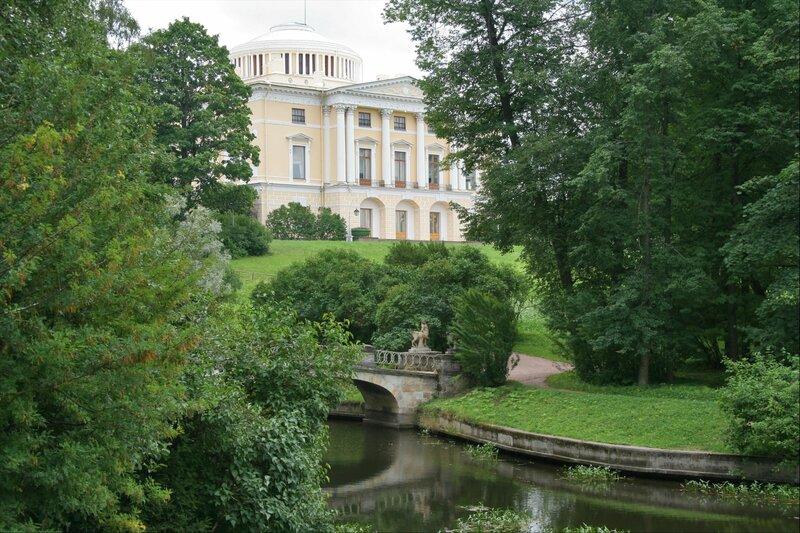 Павловский парк, Павловский дворец со стороны Дворцовой запруды