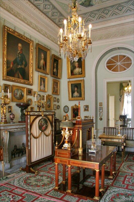Павловский дворец, жилые комнаты I этажа, Общий кабинет