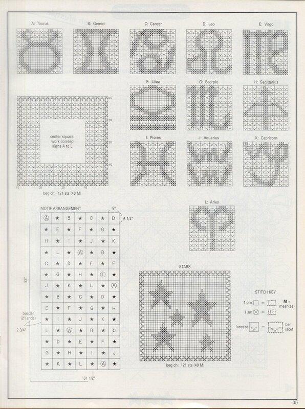 Треугольник филейным вязанием 1060