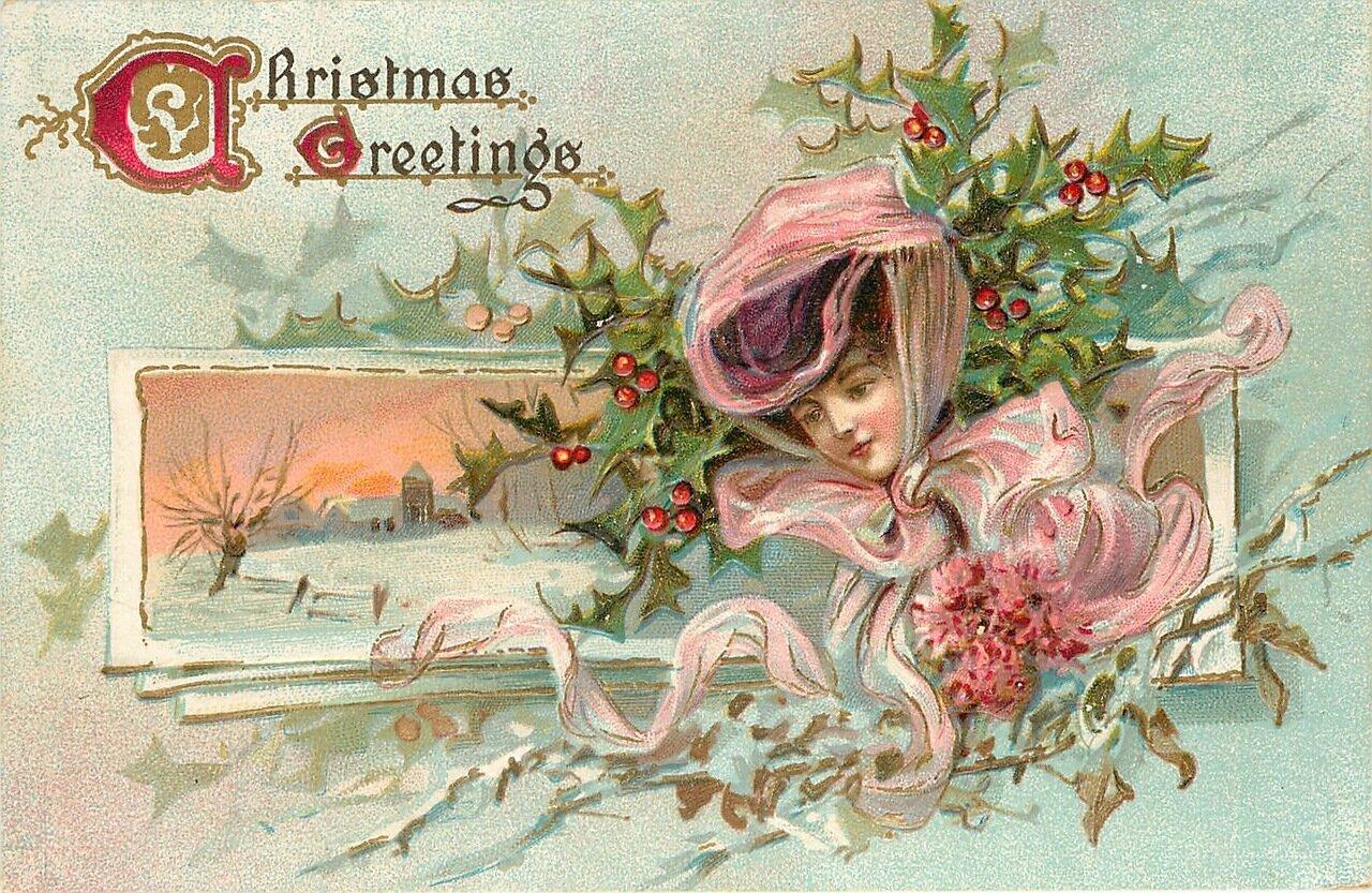 Старинные рождественские открытки высокое разрешение, имя таня