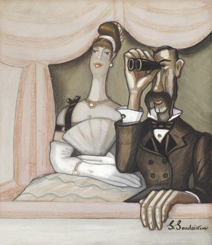Сергей Юрьевич Судейкин (1882-1946). «В опере», 1920-e