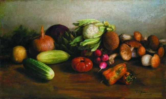 Пётр Стоянов (Stojanow Pjotr) (1857 – 1957). Натюрморт с овощами, конец ХІХ - начало ХХ вв