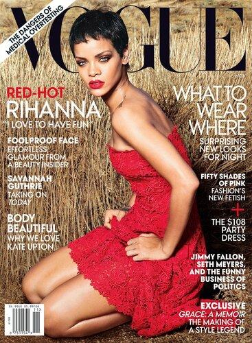 Rihanna / Рианна на обложке журнала Vogue US, ноябрь 2012 / фотограф Annie Leibovitz