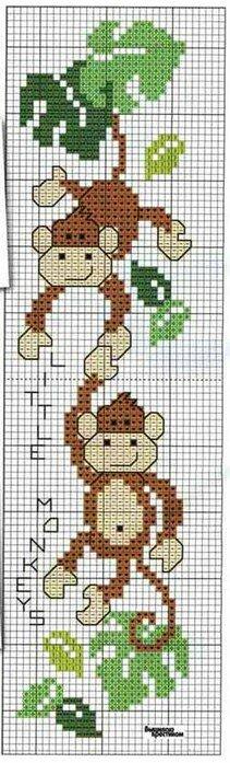 обезьяна вышивка крестом схемы