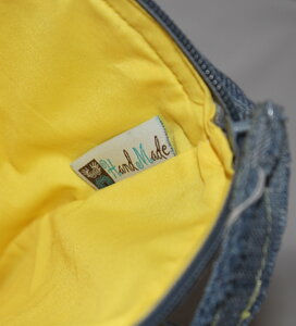 Сумочка клатч из джинсы