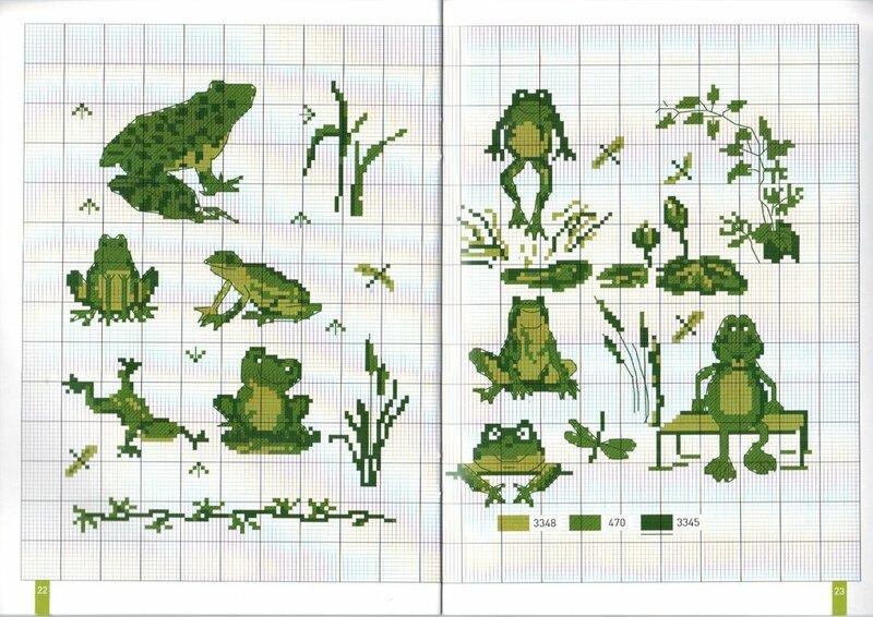 Схемы вышивки крестиком лягушки и жабы 80