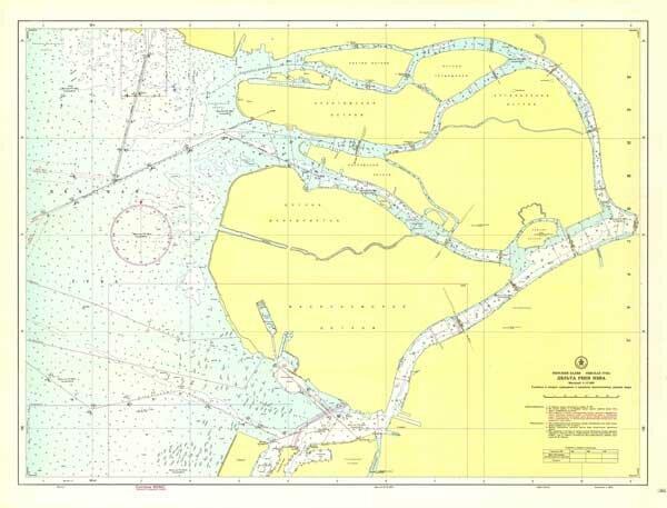 Карта глубин дельты Невы