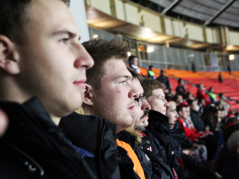 Хоккеисты «Спартака» посетили матч «Спартак» vs «Селтик» (Фото)