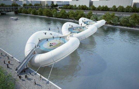 В Париже построят большой надувной мост