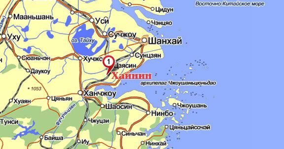 Хайнин на карте Китая