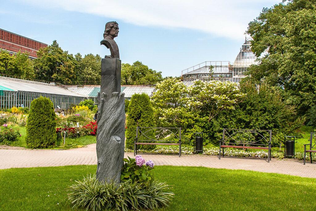 Памятник основателю ботсада - Петру I