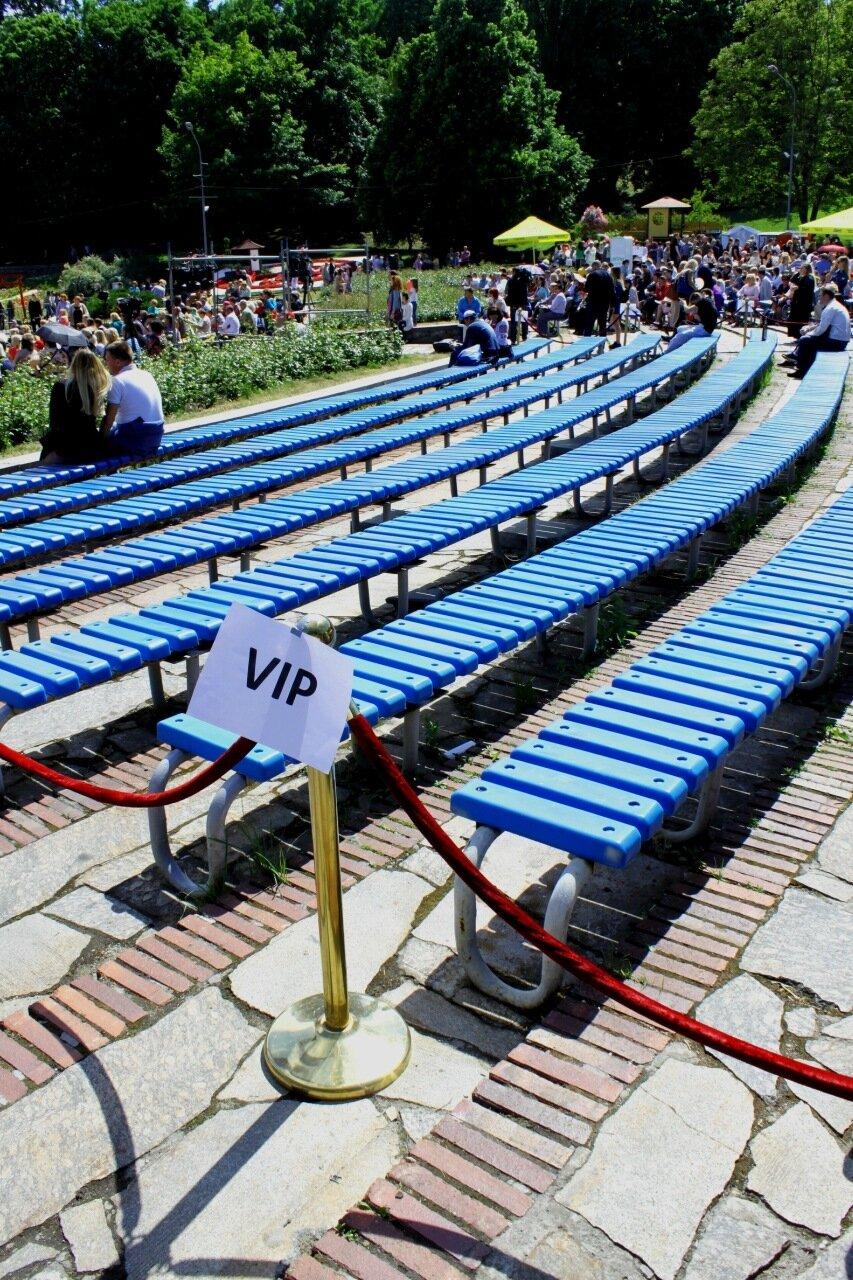 VIP-сектор в зрительном зале Певческого поля