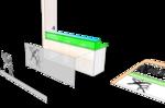 Трафарет. вырезать лазером из упругого листового материала с отражающим эффектом, наклеить и закрепить дополнительно на шурупы, к гипсокартонной поверхности стены. 2. Трафарет. Вариант с инвертированным изображ