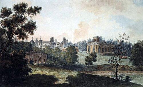 Фёдор Яковлевич Алексеев. Панорамный вид Царицыно. 1800-е